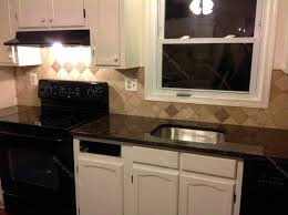 Backsplash For Kitchen With Granite Remedios B Tan Brown Granite Countertop U0026 Backsplash Tile