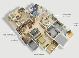 50 four 4 bedroom apartment house plans architecture design 44 modern four bedroom