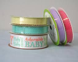 baby shower ribbons baby shower ribbon etsy