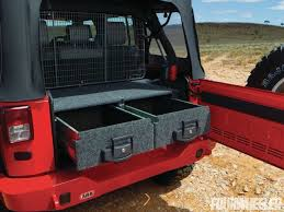 jeep wrangler cargo trailer carry smarter road truck and jeep storage solutions four