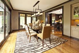 oak trim dark floor dining room contemporary with built in