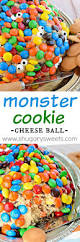 halloween monster ball monster cookie cheese ball with m u0026m u0027s recipe halloween parties