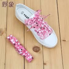 blue patterned shoes 2 8cm printed floral shoelaces patterned laces nylon shoe lacing