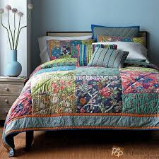 indian cotton machine quilted patchwork bedspread buy patchwork