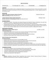 Accountant Sample Resume by Sample Resume Template For Mba Application Pdf Mba Resume