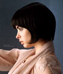 hair finder short bob hairstyles short bob with bangs and fringes in the nape