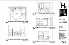Floor Plan Elevations by Bathrm Enlarged And Elevation Plan Portfolio Autocad