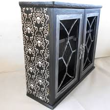 Gothic Cabinet Dresser Gothic Cabinet Gothic Home Decor Skull And Crossbones Home