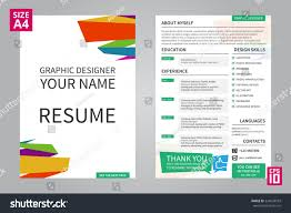 Resume Sample Graphic Designer by Vector Minimalist Cv Resume Template Graphic Stock Vector