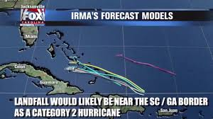 Weather Map Miami by Hurricane Irma Path Forecast Map Warns Florida New York And