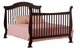 nursery cherry wood crib for elegant baby bed design