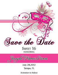 birthday party sweet 16 save the date cards invitation truly