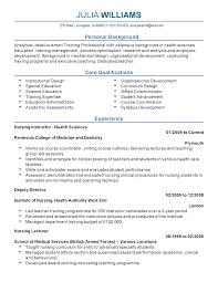 Health Educator Resume Sample by Resume For Nurse Educator Resume For Your Job Application