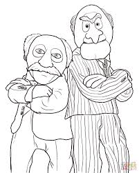 statler and waldorf coloring page free printable coloring pages