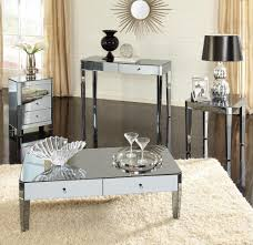 diy mirrored coffee table with four legs mirror furn thippo
