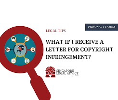 what if i receive a letter for copyright infringement