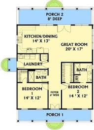 Two Bedroom House Plans Two Bedroom Cottage Floor Plans