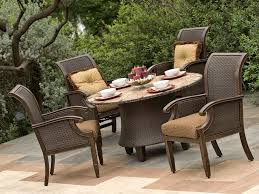 Outdoor Round Patio Table Wicker Patio Furniture Elegant And Durable Even In Stormy