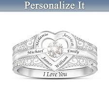 make mothers rings images Personalized mothers jewelry png