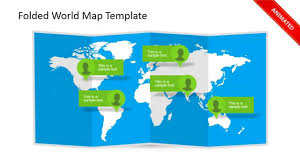 3d Map Of The World by Animated 3d Folded World Map Powerpoint Template Youtube