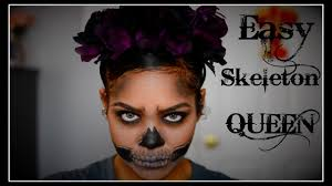 Skeleton Halloween Makeup by Easy Skeleton Halloween Makeup Tutorial Youtube
