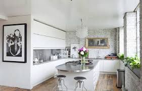Modern Kitchens With White Cabinets Stainless Steel Mid Century Modern Kitchen Countertops In White