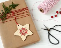 diy kit set of 4 cross stitch ornaments scandinavian