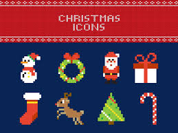 free pixel christmas vector icons by anna sereda dribbble