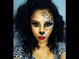 Leopard Halloween Costume Cat Leopard Cheetah Makeup Halloween