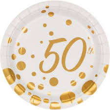 50th anniversary plates golden anniversary party supplies 50th anniversary party supplies