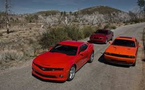 camaro vs challenger vs mustang camaro vs mustang vs challenger shootout reviews results are in