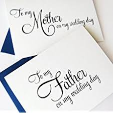 to my card to my parents on my wedding day wedding card to my