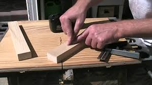 miter cuts on table saw table saw miter sled youtube