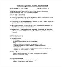 receptionist job description essay medical receptionist job