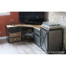 bureau d angle en pin marvelous meuble tv angle 2 meuble tv dangle industriel en
