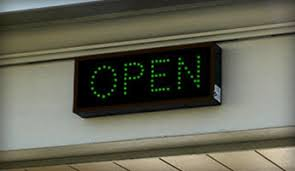 bank drive thru open closed led signs outdoor led lighted open