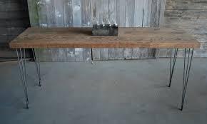 narrow dining room tables reclaimed wood narrow dining table with reclaimed wood top and hairpin legs 44 l