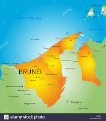 brunei map in world vector color map of brunei country stock photo royalty free image