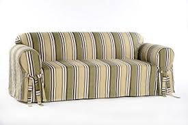 White Sofa Slip Cover by Amazon Com Classic Slipcovers Printed Classic Stripe Canvas Sofa