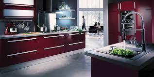 Peinture Rouge Cuisine by Cuisine Moderne Grise Et Collection Avec Deco Cuisine Rouge Et