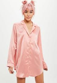 x missguided pink satin embroidered pajamas missguided