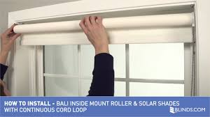 Installing Window Blinds Bali Blinds How To Install Solarroller Shades With Continuous
