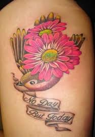 colorful daisy flower tattoo art and designs page 4