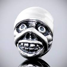 bella fascini halloween mummy head silver charm bead fits pandora