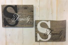 Family Wood Sign Home Decor Name Sign Wood Family Sign Rustic Family Sign Rustic Wall Decor