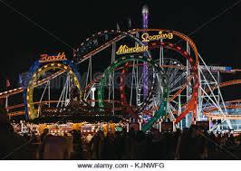 roller coaster at funfair in winter hyde park