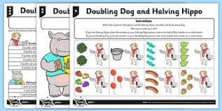 doubling u0026 halving primary resources double half page 1