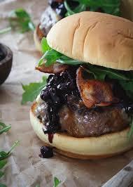 blueberry bbq brie burger recipe bbq sauces brie and arugula
