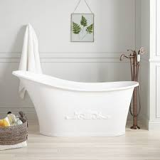 freestanding oval shaped bathtub signature hardware