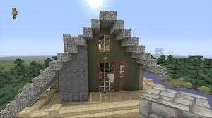 minecraft house tutorial how to build an a frame cabin part 02